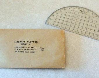 WWII Era USN Navy Bureau of Aeronautics Aircraft Plotter Mark 2, The Sillcocks-Miller Co.