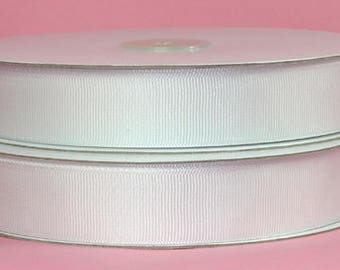 Grosgrain Ribbon- White