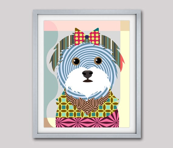 Maltese Art, Maltese Poster, Maltese Gifts, Maltese Decor, Maltese Dog Print, Toy Dog, Pop Art Dog, Dog Lovers Gift