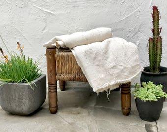 Authentic Plain African Mudcloth Fabric, Ecru Mud cloth fabric, natural mudcloth throw mudcloth textile 12