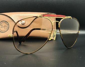 1980s USA ray ban Tortuga b&l brown changables lens62mm