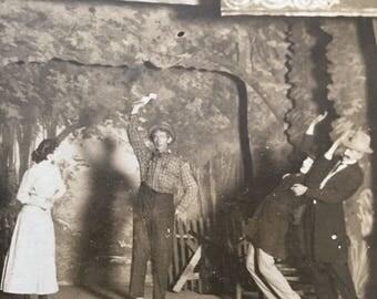 Vaudeville Theater Stage Vintage Photo Stamford, Jones Co, Texas