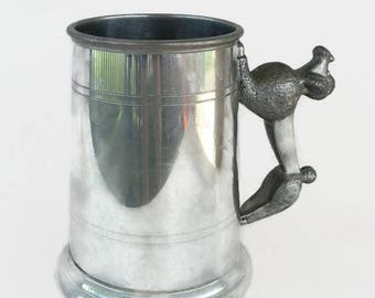 vintage poodle handle pewter mug Sheffield, England