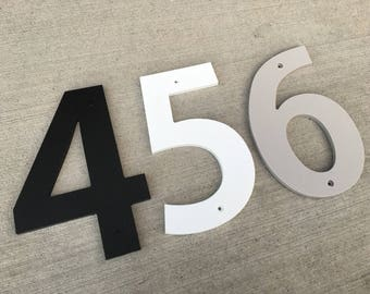 4 inch Bold House Numbers Letters