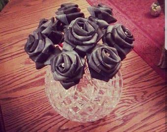 Recycled bike tube Roses