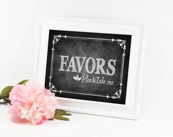 Favors Sign, Chalkboard Wedding Favor Signs, Rustic Wedding Favors, Retirement Party Favor sign, Chalkboard wedding sign, shower favors sign