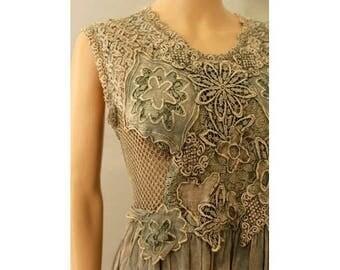 90s acid lace Dress medium