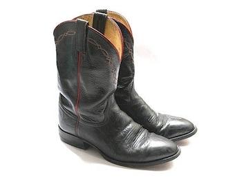 HONDO men Boots us12 euro46 black &red El Paso Texas