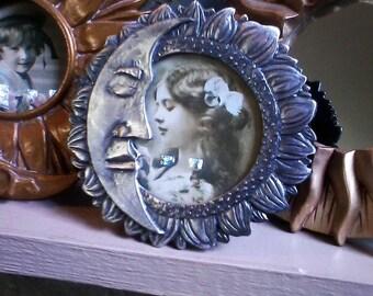 Celestial Moon, Star, Sun, Nova Collection of Frames. Pewter, Copper, Gold Decor, frame trio, celestial frames, Moon Child, June Moon