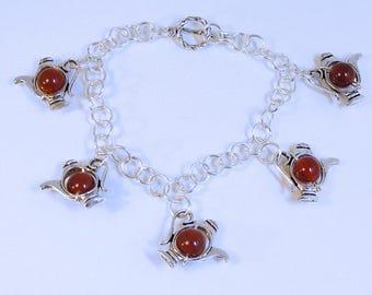 Carnelian Teapot Bracelet