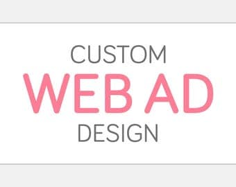 Custom WEB AD Button | Website Shop Digital Display Advertisement Graphic | Custom Personalized Static One Frame Web Blog Link