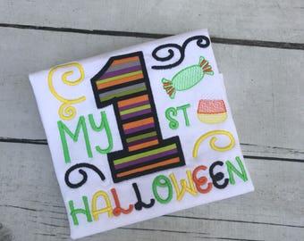 1st Halloween Shirt - Boys First Halloween Shirt - Girls Halloween Shirt - My 1st Halloween - Baby - Halloween Shirt