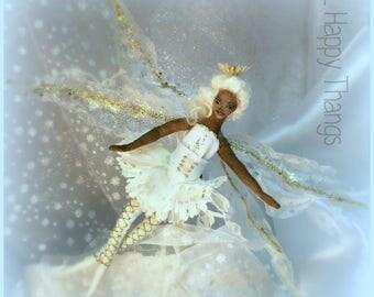 OOAK Snow Fairy Cloth Art Doll