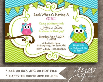 Owl Baby Shower Invitations Girl Baby Shower Invites Owl Printable Invitations Owl Baby Shower Invites for Girl Baby Shower Owl Invitations