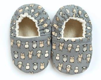 Tiny Animals Soft Sole Vegan Baby Shoes