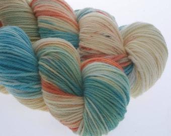 Australis DK,  Hand Dyed Yarn, 8 ply, Yarn, Hand dyed, Superwash Merino, PARROT