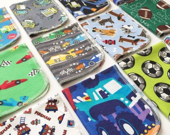 Boys theme cloth paper towels, cloth napkins, eco friendly, kitchen towels, cleaning towels