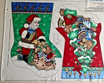 Christmas Stocking Fabric Panel