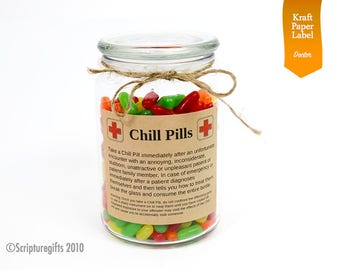 Funniest Chill Pill for DOCTORS Self Adhesive Labels