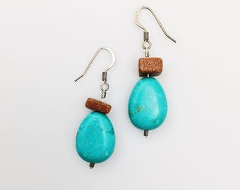 SALE! Firestone & Turquoise Earrings