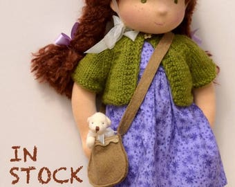 "Waldorf  Doll 18"",  IN STOCK , Chestnut brown hair, Betty"