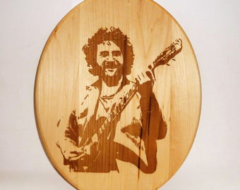 SALE / LIMITED TIME  Handmade wood burned plaque / Jerry Garcia  / Art