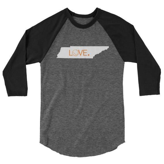 Tennessee Tennis Love State Tshirt Shirt Tee Unisex Raglan