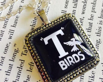 T Birds From the Grease Movie 25mm Square Pendant