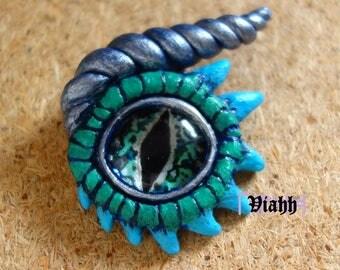 OOAK handmade dragon eye necklace pendant