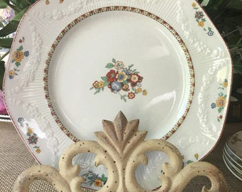 Set of 2 J G Meakin Plates 9 inch Monterey pattern made in  England Farmhouse Perfect