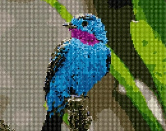 Needlepoint Kit or Canvas: Beautiful Bird