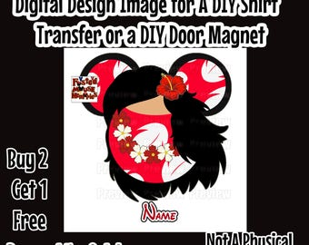 Personalized Lilo Minnie Ears Mouse Head Printable Iron on Transfer Lilo Clip Art – DIY Disney Shirt Mouse Ears Shirt Lilo Mouse Head