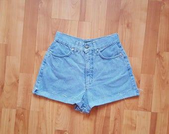 VINTAGE denim shorts Denim Shorts High waisted light blue shorts Vintage Daisy dukes Nr. 45