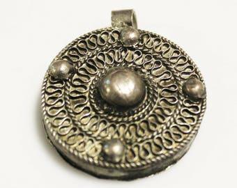 Ethiopian Amulet Pendant, African Pendant, Ethnic Jewelry Supplies (AK180)