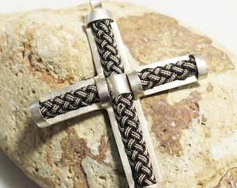 Coptic Cross Handmade in Ethiopia 75x62 mm (AL252)