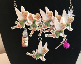Tinkerbell Flying Fairy Necklace