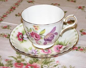 Montrose-Tuscan Fine English Bone China Teacup and Saucer