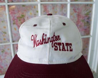 Vintage 90s WSU Hat Washington State University