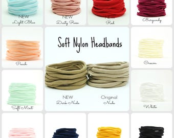 Nylon Headband // One Size Fits All Headband // THIN Soft Nylon Headband // Premium Infant & Baby Headband // BULK headbands
