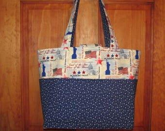 ON SALE! Large Handmade Patriotic Tote Bag!