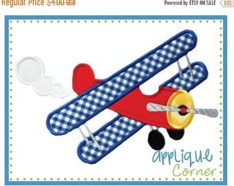 50% Off Airplane Prop Plane applique digital design for embroidery machine by Applique Corner