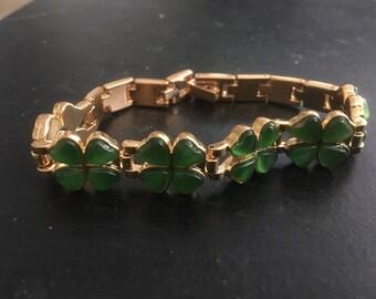 Lucky 4 Leaf Clover Link Bracelet