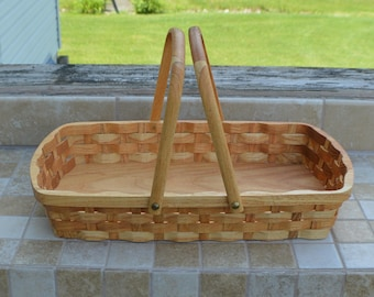 wood bread serving tray basket Honey Locust wood