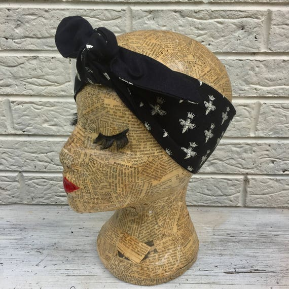 Queen Bee Headscarf Rockabilly Pinup 1950's Inspired