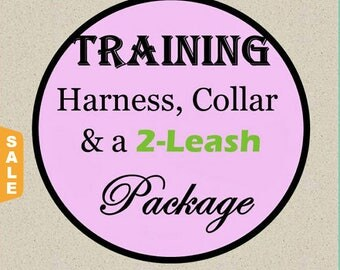 Puppy Love Sale - 40% Off Training No-Pull Harness, Collar & Leash Package - Available in all Dog Collar Listings - Fabric name