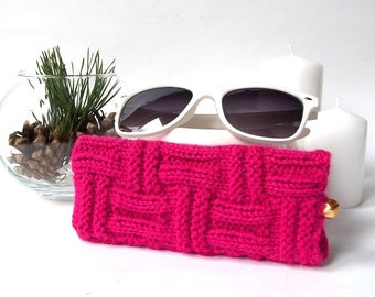 Fuchsia Glasses Case. Eyeglasses Case. Sunglasses Case. Eyeglasses Holder. Sunglasses Holder. Spectacle Case.