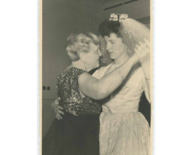 Dancing with the Bride: Vintage Photo Snapshot (77591)