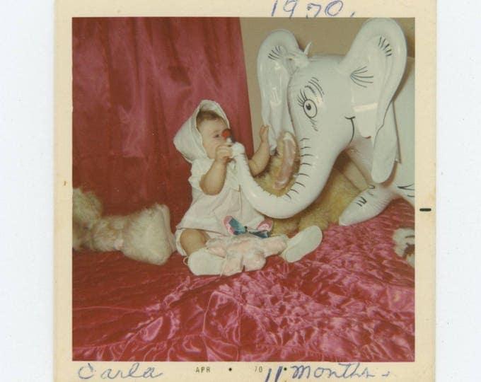 Vintage Snapshot Photo: Carla, Easter Sunday 1970 (710615)