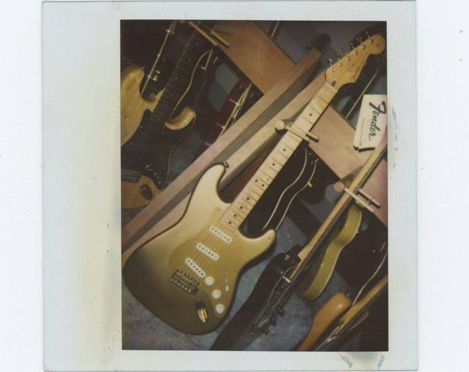 Fender Stratocaster: Vintage Polaroid Snapshot Photo [81645]