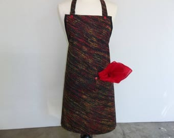 All Purpose Apron In Black And Red